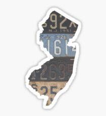 Vintage New Jersey License Plates Sticker