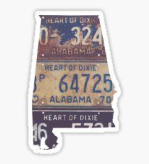 Weinlese-Alabama-Kfz-Kennzeichen Sticker