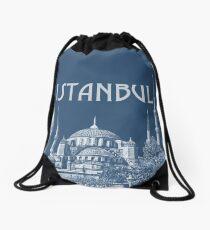 Blue Mosque 4 Drawstring Bag