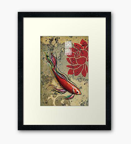 The Lucky Fish- Mixed Media Framed Print