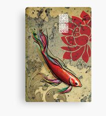 The Lucky Fish- Mixed Media Canvas Print