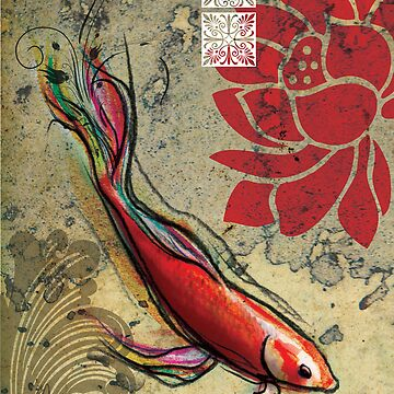 The Lucky Fish- Mixed Media by Narelle