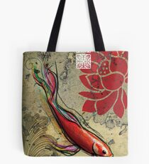 The Lucky Fish- Mixed Media Tote Bag