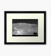 Striking Distance in Black and White Framed Print