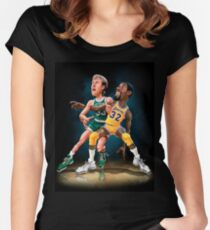 MAGIC VS BIRD Women's Fitted Scoop T-Shirt