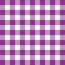 Buffalo Plaid - Purple & White by MilitaryCandA
