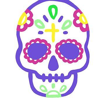 La Calavera Catrina Sugar Skull Dia De Los Muertos Day Of The Dead T-Shirt by UGRcollection