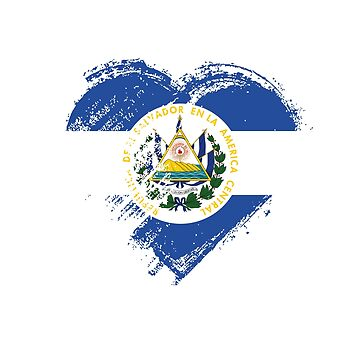 Grungy I Love El salvador Heart Flag by madra