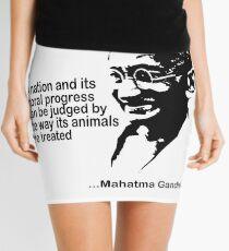 Animal Rights Mahatma Gandha Mini Skirt