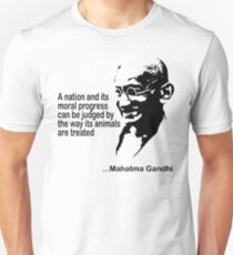 Animal Rights Mahatma Gandha Unisex T-Shirt