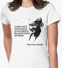 Animal Rights Mahatma Gandha Women's Fitted T-Shirt