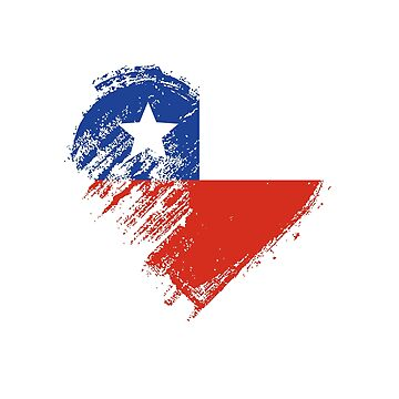 Grungy I Love Chile Heart Flag by madra