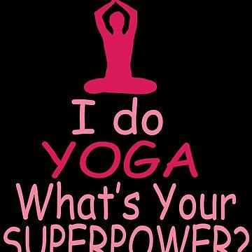 Cute Yoga Meditation Workout Meditate Namaste Mindfulness by LoveAndSerenity