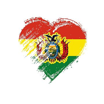 Grungy I Love Bolivia Heart Flag by madra