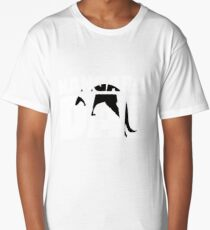 Kangaroo Dad T-Shirt Kangaroo Animal Lover Gift for Father Long T-Shirt
