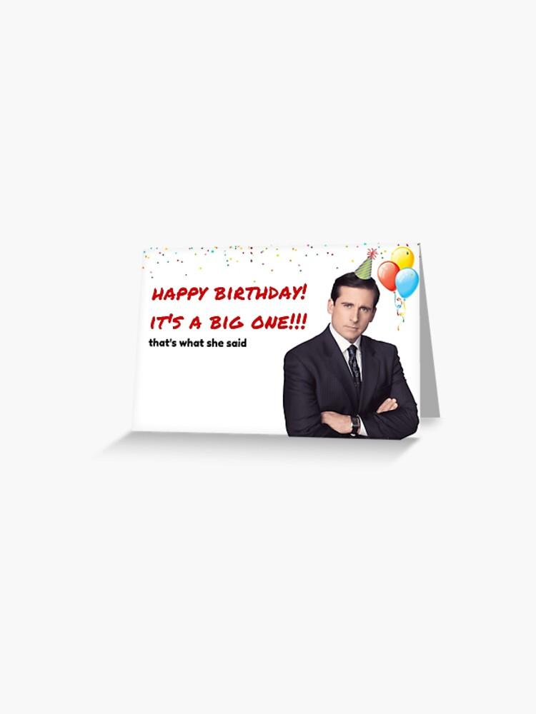 office us birthday card michael scott birthday card quotes