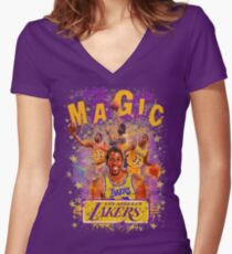 MAGIC 32 Women's Fitted V-Neck T-Shirt