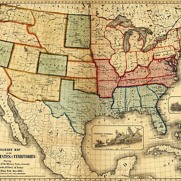 Map of the United States (1861) by allhistory