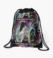 Artists Paint the World With Joy Drawstring Bag