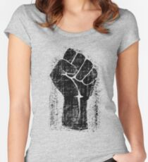 Dirt Fist Grunge Distressed Style Women's Fitted Scoop T-Shirt