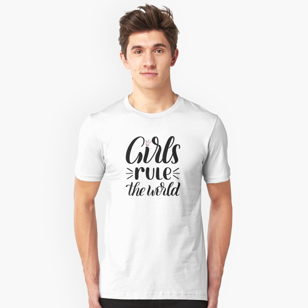 Girls rule the world Unisex T-Shirt Front