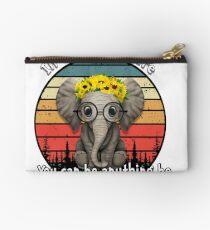 Elephant supercalifragilisticexpialidocious Studio Pouch