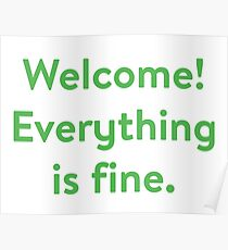 The Good Place - Welcome! Everything Is Fine. Poster