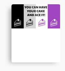 Asexual Flag You Can Have Your Cake And Ace It Asexual T-Shirt Metal Print