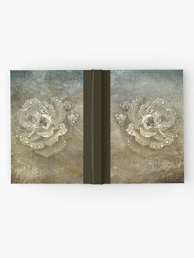 Alternative Ansicht von Nasse Rose Notizbuch