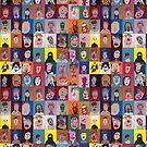 « Les Faces à flaques (murale entière) » par Martin Boisvert
