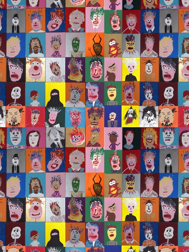 «Les Faces à flaques (murale entière)» par martinb1962