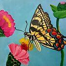 Butterfly on Flower by ElenaFineArt