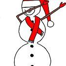 DAB - tanzender Schneemann, Dezember, Schnee, Schneeflocke von rhnaturestyles