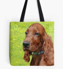Irish Setter Puppy Tote Bag