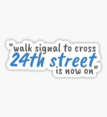 24th Street Sticker