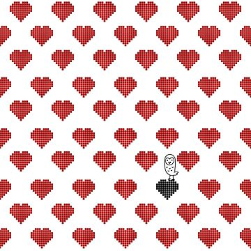 Owly on the black heart red pattern by OwlyChic