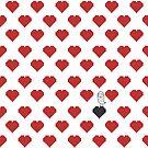 «Owly en el patrón de corazón rojo negro» de OwlyChic