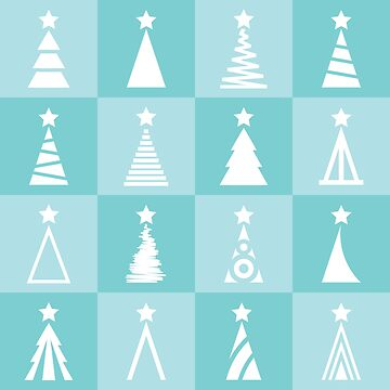 Holiday pattern with turquoise background by SooperYela