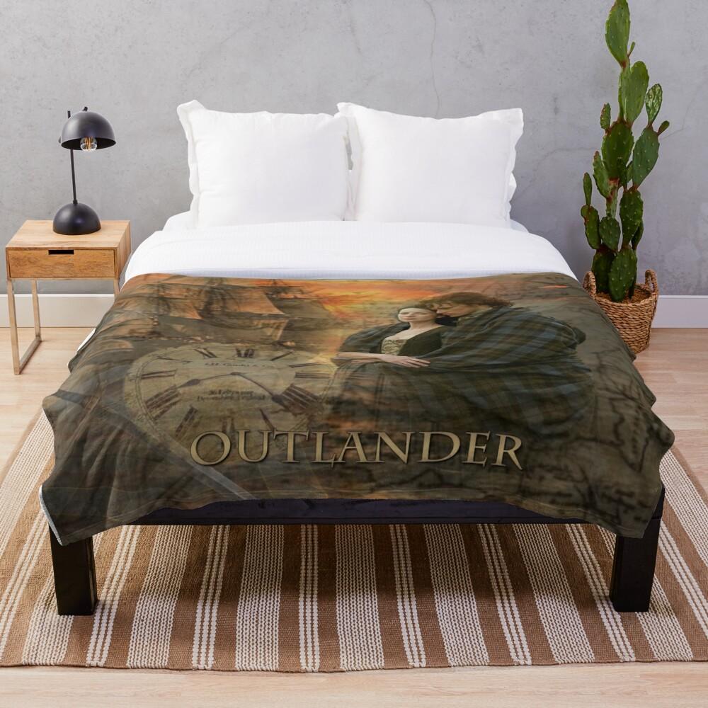 Outlander collage Throw Blanket