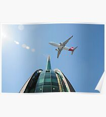 Swan Bell Tower and plane Poster