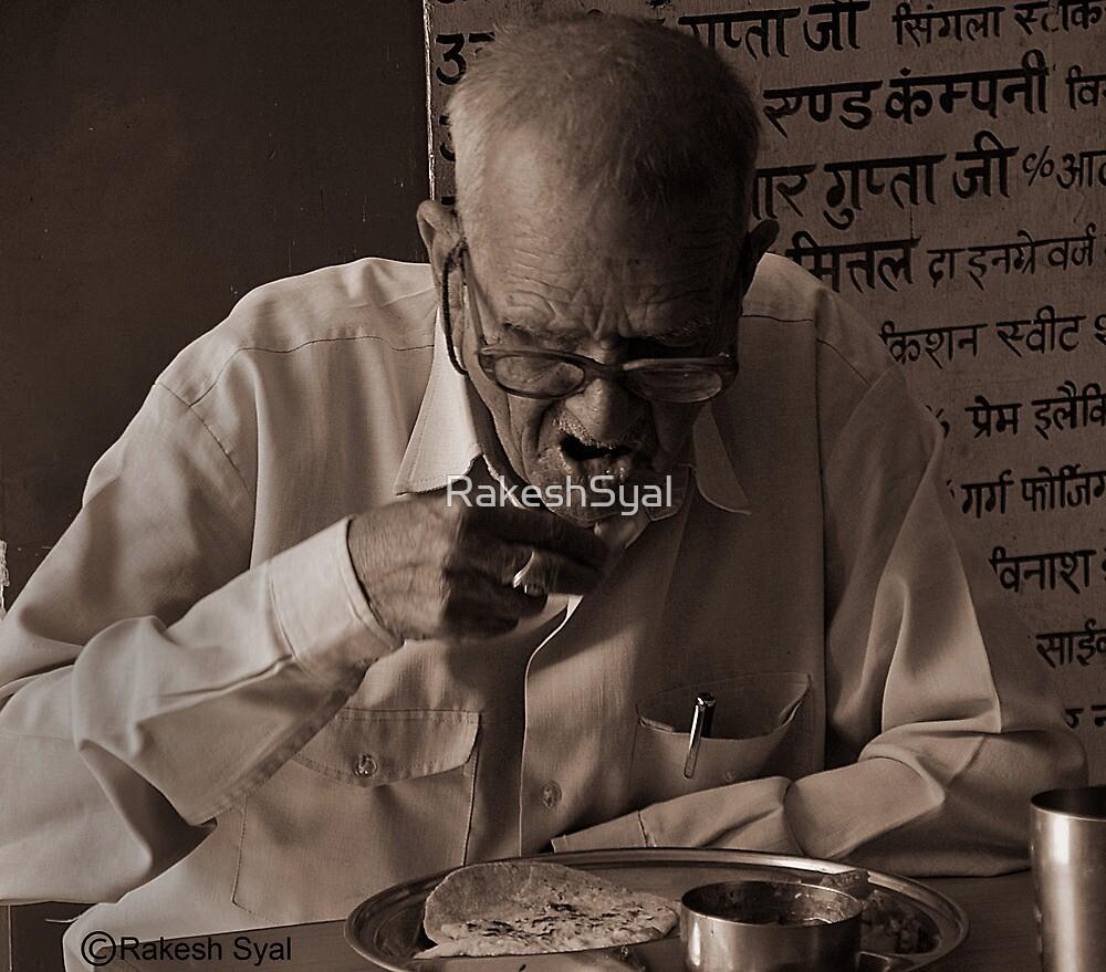 OLDMAN EATING FOOD by RakeshSyal
