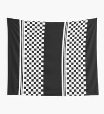 Stylish black and white ska inspired Wall Tapestry