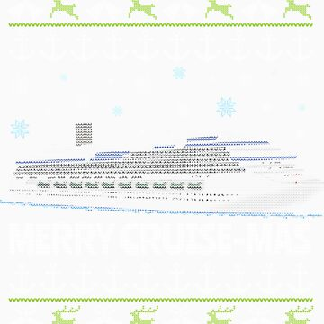 Cruise Ship Ugly Christmas Vacation Funny Design by EstelleStar