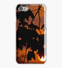 When the day ends iPhone Case/Skin