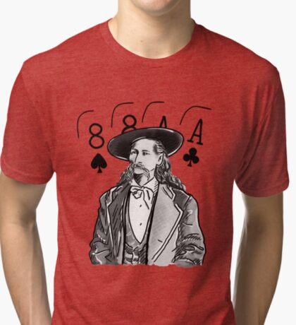 Wild Bill Hickok Poker Legend Tri-blend T-Shirt