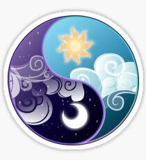 Celestia/Luna Sky and Clouds Yin Yang - Subtle Brony Sticker