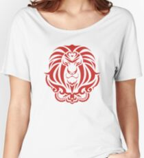 Zodiac Sign Leo Red Women's Relaxed Fit T-Shirt