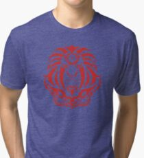 Zodiac Sign Leo Red Tri-blend T-Shirt