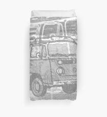 Grey Bay Campervan Montage Duvet Cover