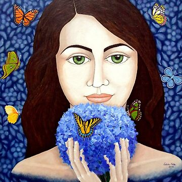 The woman who talks with butterflies by madalenalobaote